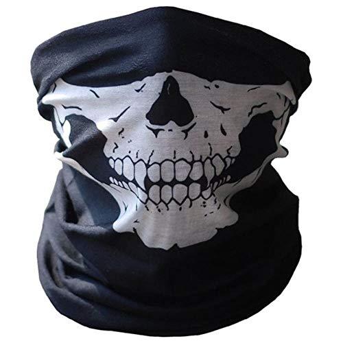 SPI winddicht zonnescherm skelet outdoor motorfiets multifunctionele halsverwarmer Ghost Half Face Mask sjaals, zwart