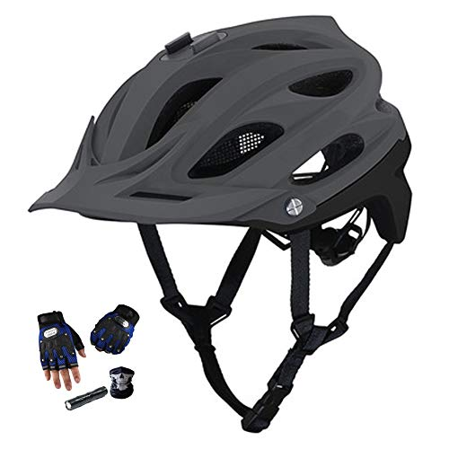 YYYY Adult Helmet, Riding Protective Equipment, Sports Camera Mounting Port, 15-Hole Ventilation, Ultra-Light, Universal Bicycle and Mountain Helmet(55-61CM) 3