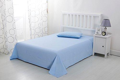 Drap de lit doux en microfibre sans repassage par Sonia Moer, bleu ciel, Super king size