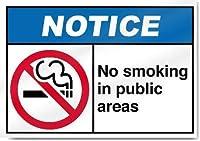 公共エリアは禁煙です。金属スズサイン通知街路交通危険警告耐久性、防水性、防錆性