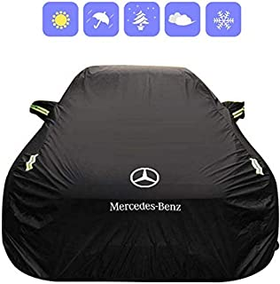Color : Black, Size : - Clmaths Cubierta del Coche Compatible con Volkswagen Touareg Impermeable y Transpirable al Aire Libre Cubierta de Nieve Helada Protect Polvo UV raspaduras Negro