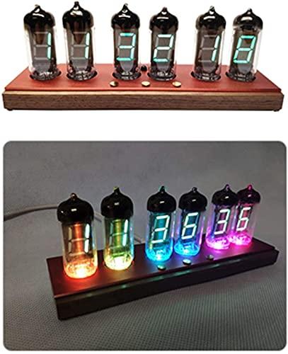 AACXRCR Reloj de Tubo Digital, Tubo LED Software de Reloj de Reloj Bluetooth Dimensión, Simulación de Reloj Nixie Tube ON Off Timer SELECCIÓN DE TINTONE, Rojo (Color : Red)