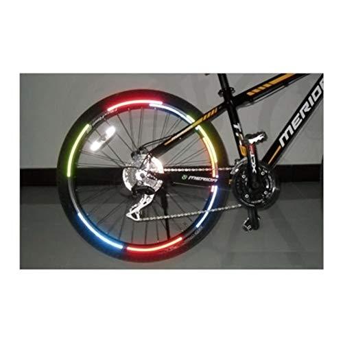Yeyubh 21 cm x 8 Cm Borde Luorescent MTB etiqueta fluorescente MTB bicicleta de ciclo de la rueda pegatina reflectante pegatinas Decal Cinta de borde de la motocicleta (Color : Blue)