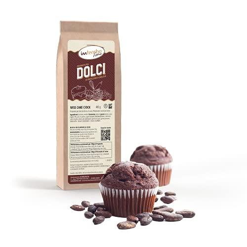 Intensho Home MISS CAKE CIOCK Preparato al cioccolato fondente per muffin, plumcake, pasta frolla, torta americana e tanti altri dolci, senza lattosio e senza conservanti.