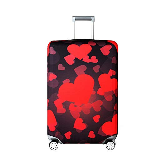 Discover Bargain Vaskey Suitcase Protective Cover with Zipper Red Heart Pattern Elastic Washable Lug...