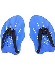 Zwemmen Paddles Swim Hand Training paddles Swim Training Tools met verstelbare bandjes voor zwemmen Blue