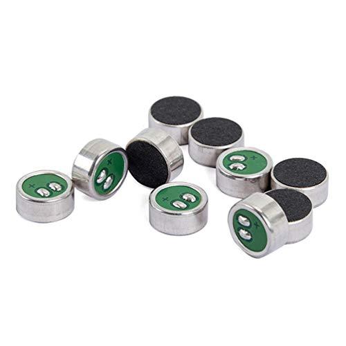 Artibetter 10 Stks Electret Condensor Sa201 Electret Microfoon Microfoon Pickup Voor Computer Telefoon Luidspreker Desktop (Groen)