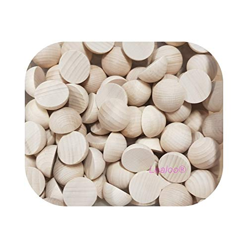 25 mm artisanat Exceart Lot de 40 boules en bois non finies demi-boules en bois pour projets de bricolage