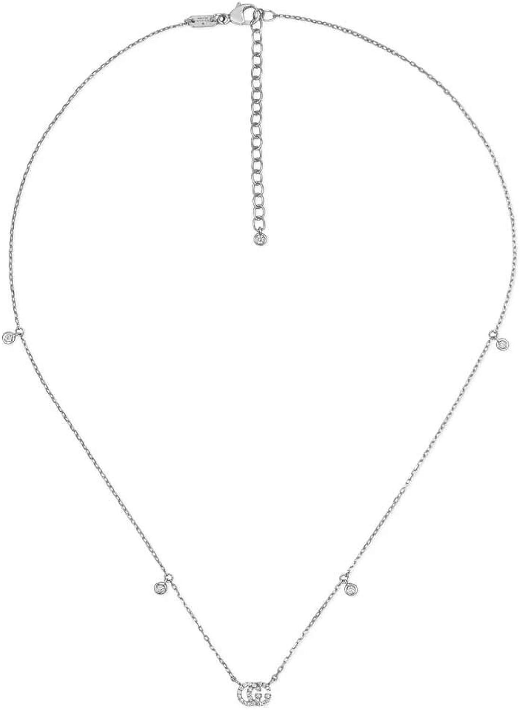 Gucci collana runnig g in oro bianco YBB47923100100U
