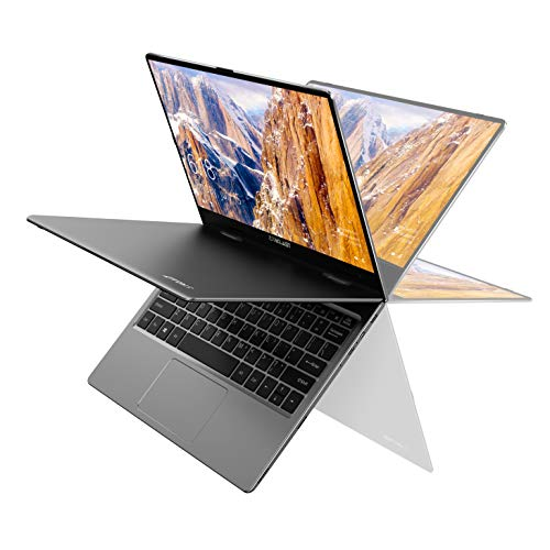 Laptop 11,6 Zoll, TECLAST F5 Convertible Notebook, Touch Display, 8GB RAM 256GB SSD Ultrabook, Windows 10, 1920X1080 IPS, Prozessor Intel Celeron N4100, Aluminium Gehäuse, WLAN, Bluetooth