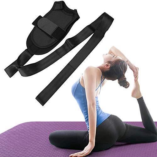 NULINULI CinturóN De Estiramiento Ligamentos, Correa Yoga para Ejercicios con Presillas Y Almohadilla Los Pies. A