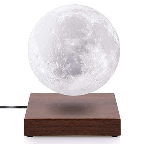 磁気 浮上 月ライト 浮遊 月ランプ 2色切り替え ナイトライト テーブルランプ GDREAMT 回転 ムーンライト 3Dプリント 間接照明 15cm 誕生日 プレゼント 母の日 ギフト