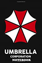 """Notebook: Umbrella Corporation Logo Of The Resident Evil Gamefil , Journal for Writing, College Ruled Size 6"""" x 9"""", 110 Pages"""