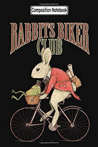Composition Notebook: Rabbits Biker Club Biker Trike Touring Training Trips City Notebook Journal/Notebook Blank Lined Ruled 6x9 100 Pages