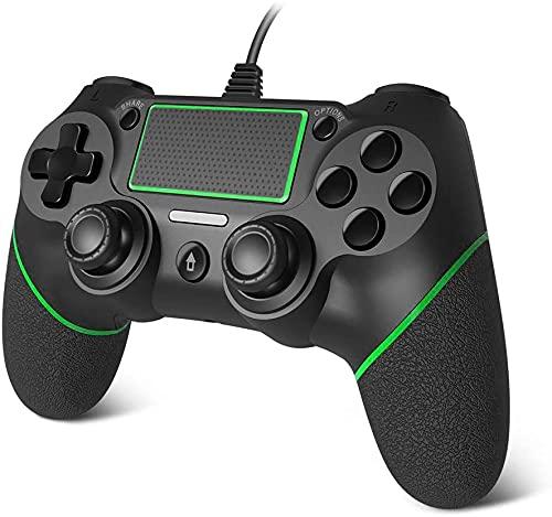 Mando para PS4 con Cable para PS4, USB, Doble vibración, PS4, Mando a Distancia para Playstation 4, PS4 Slim, PS4 Pro PC, Longitud de Cable de 6,5 pies