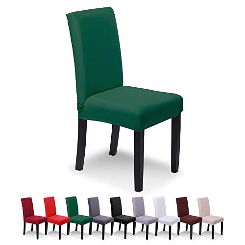 SaintderG® Fundas para sillas Pack de 6 Fundas sillas Comedor, Comedor Extraíble Funda, Duradera Modern Bouquet de la Boda, Hotel, Decor Restaurante (Bosque Oscuro, Pack de 6)