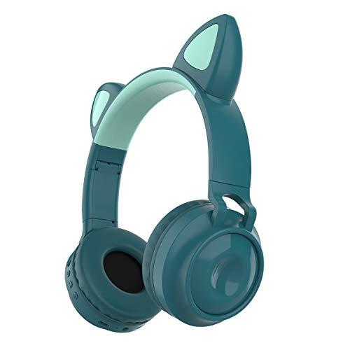 Queen.Y Bluetooth-Funkkopfhörer mit Klappbarem On-Ear-Stereo-Kopfhörer mit Mikrofon-LED-Licht Und Unterstützung Der Lautstärkeregelung Kompatibel mit Smartphones PC-Tablets