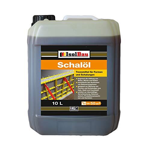 10 Liter Schalöl Professional Schaloel Trennmittel Betontrennmittel Schalungsöl Trennmittel für Formen und Schalungen Holz Metall Matrizenschalungen Mischerschutz