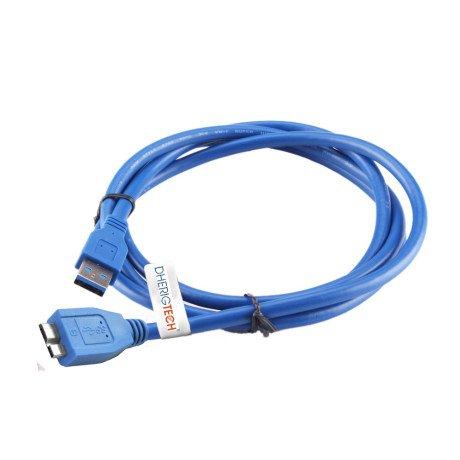 Ersatz High-Speed USB 3.0Kabel für WD My Cloud DL2100NAS HDD Schnelle Datenübertragung für PC/Mac/Windows