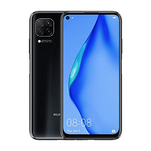 """HUAWEI P40 Lite - 6 GB de RAM Smartphone ROM de 128GB de tela FullView de 6,39"""", câmera triplo 48MP AI, bateria 4000 mAh, Kirin 710, telefone celular Android Dual SIM, Preto"""