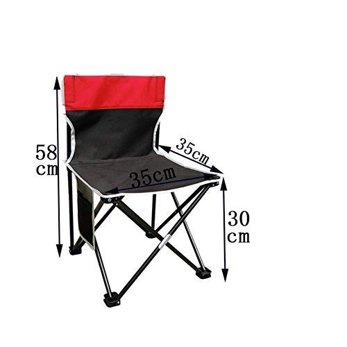 Qiutianchen Outdoor Klappstuhl leichte tragbare Campingstuhl Outdoor Klapprucksack hohe Rückenlehne Camp Freizeitstuhl mit Kopfstütze Sport Picknick Strand Wandern Angeln@02#