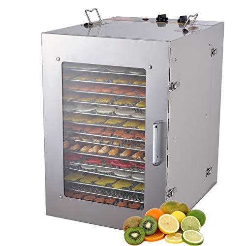 Mxmoonan Deshidratador de Alimentos 16 bandejas -1350 W Come