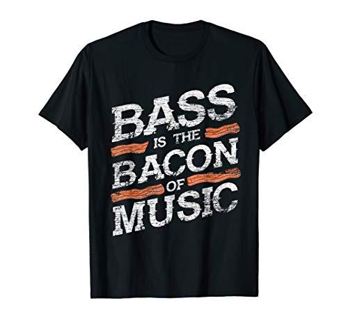 Bacon Of Music Bass Guitarist Bass Guitar T-Shirt