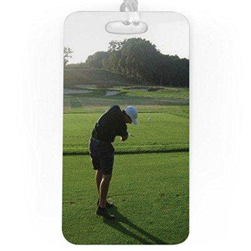 Golf Luggage & Bag Tag | Custom Photo | No Personalization on Back | LARGE
