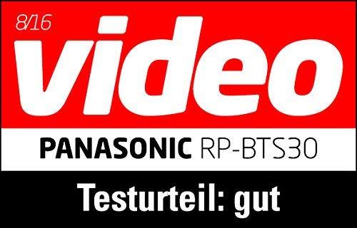 Panasonic RP-BTS30E-K Bluetooth In-Ear Kopfhörer (wasserfest, Schnellladefunktion, flexible Ohrbügel) schwarz