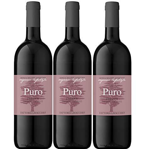Puro - Chianti DOCG - 2016 - Senza Solfiti - biologico - Fattoria Lavacchio - Toscano - 3 bottiglie da 750ml