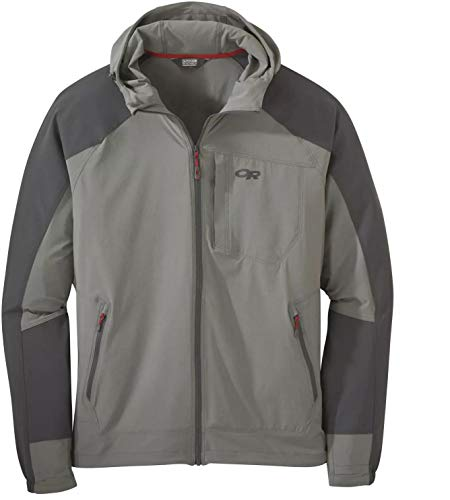 Outdoor Research Mens' Ferrosi Hooded Jacket, Pewter/Storm, M