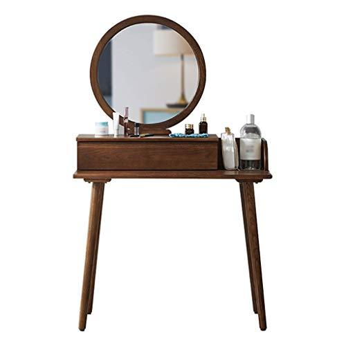 Buy Xuyuanjiashop Vanity Table Vanity Table Wood Dressing Table with Mirror and 1 Drawers Storage Gi...