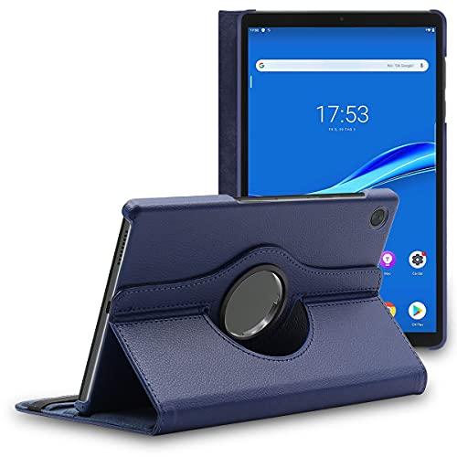 ebestStar - Funda Compatible con Lenovo Tab M10 FHD Plus (2e Gen) Carcasa Cuero PU, Giratoria 360 Grados, Función de Soporte, Azul Oscuro [Tab: 244.2 x 153.3 x 8.15 mm, 10.3'']