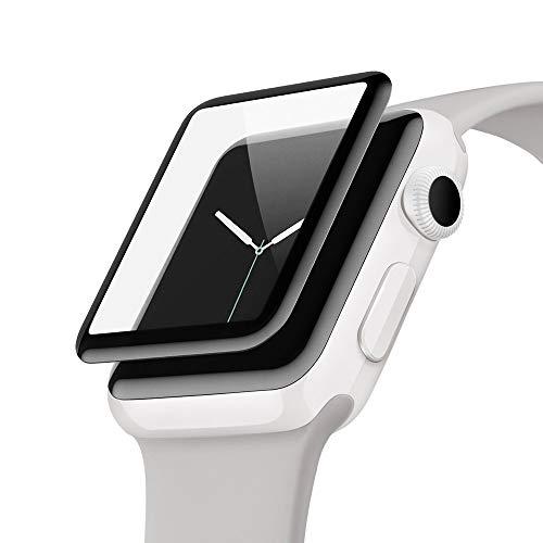 Belkin ScreenForce - Protector de Pantalla Edge to Edge Ultraglass para Apple Watch (38 mm), Serie 2
