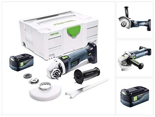 Festool AGC 18-125 Akku Winkelschleifer 18V 125mm Brushless (575343) + 1x Akku 5,2Ah + systainer - ohne Ladegerät
