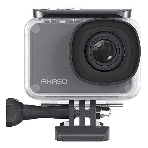AKASO Wasserfest beschichtet Gehäuse Action Kamera Ultra 4K/30fps 20MP V50 PRO Action Cam mit Touchscreen, 30m Unterwasserkamera Fernbedienung,EIS,LCD