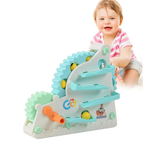 NixueLILI Toddler Toys Balls Slides Gear Roller Coaster, DIY Assembly Building Toys for Kids Age 3 4 5 6 7 8 Year Old Boys Girls Games Gift (Multi)
