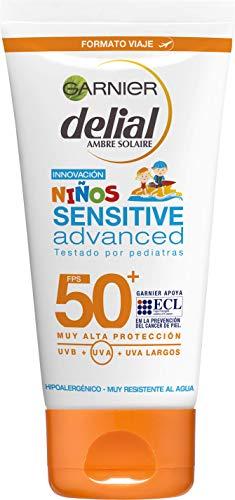 Garnier Niños Sensitive Advanced - Protector Solar para Pieles Claras, Sensibles e Intolerantes al Sol, IP50+ - 50 ml (Formato Viaje)