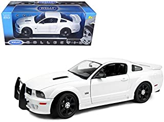 StarSun Depot 2007 Saleen S281 E Mustang Unmarked Police Car White 1/18 Car Model by Welly