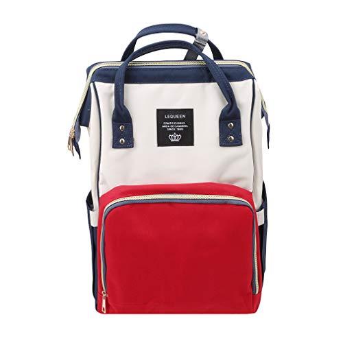 LAIMALA Mummy Maternity Nappy Bag Brand Large Capacity Baby Bag Travel Backpack Designer Nursing Bag for Baby Care Red White