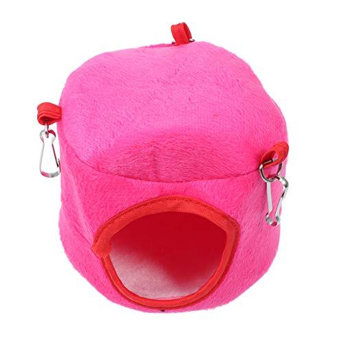 POPETPOP hamaca de cuy para jaula - cama colgante de chinchilla ropa de cama de hámster suave hamaca de animales pequeños casa escondite jaula de cama juguetes para ratones ratas chinchilla (color aleatorio)