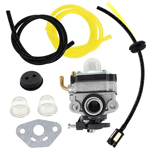 USPEEDA Carburetor for Troy-Bilt TB144 TB146EC Cultivator TB26CO TB415CS TB475S 753-04296 753-05251 Fuel Line Kit Carb