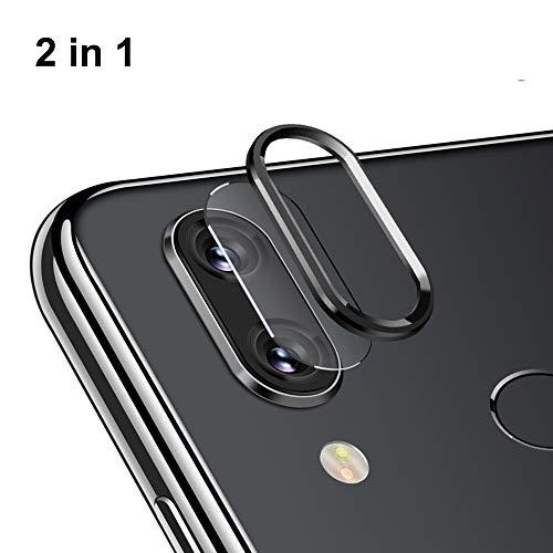 NOKOER Della Camera Lens Protector per Xiaomi Redmi Note 7/Note 7 PRO, [2 in 1] Fotocamera Protezione Anello + Pellicola Protettiva per L'obiettivo, 360 Gradi Proteggi la Fotocamera Posteriore - Nero