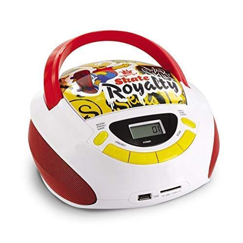 Metronic Radio/CD-speler voor kinderen, oceaan, met USB-/SD/AUX-IN-poort Simpson jaune