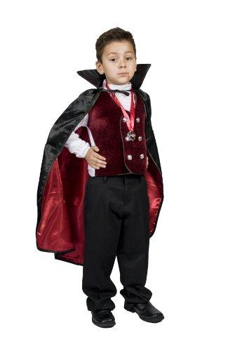 Boys Kids Vampire Halloween Costume, Dracula Size S M 4 5 6 7 S...