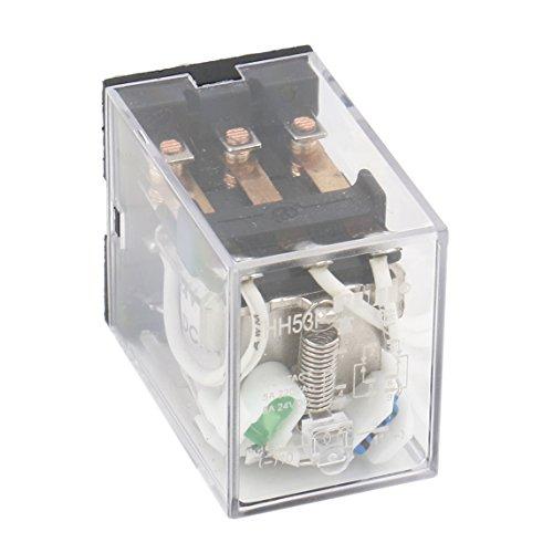 Heschen HH53P-L - Relé de alimentación de propósito general, bobina de 5A, 220V CA/24VCC, 3PDT,11 pines e indicador LED