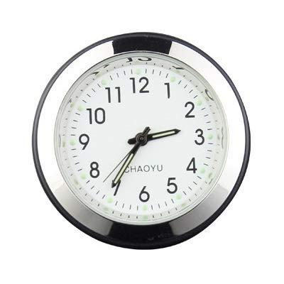Byrhgood Relojes 2 en 1 función Luminosa Ornamento decoración Interior del Coche ambientador de Aire del Coche automático del Reloj del Reloj Automotive Vents Clip (Color : White)