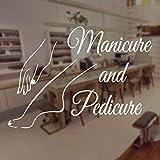 salone di bellezza manicure pedicure unghie salone autoadesivo della parete del vinile home decor interior design arte testo finestra decalcomania murale poster 80x57 cm