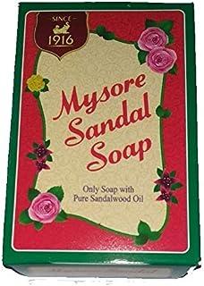 Mysore Sandal Mysore Sandal Soap, 75 Grams (Brown, Pack of 6)