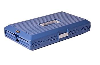 Iris Ohyama, Caisse de transport / cage transport pliable, 2 portes (devant & derrière), poignée, ventilation optimale, pour chat & chien max 20 kg - Pet Carry FC-670 - Bleu